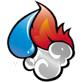water fire smoke